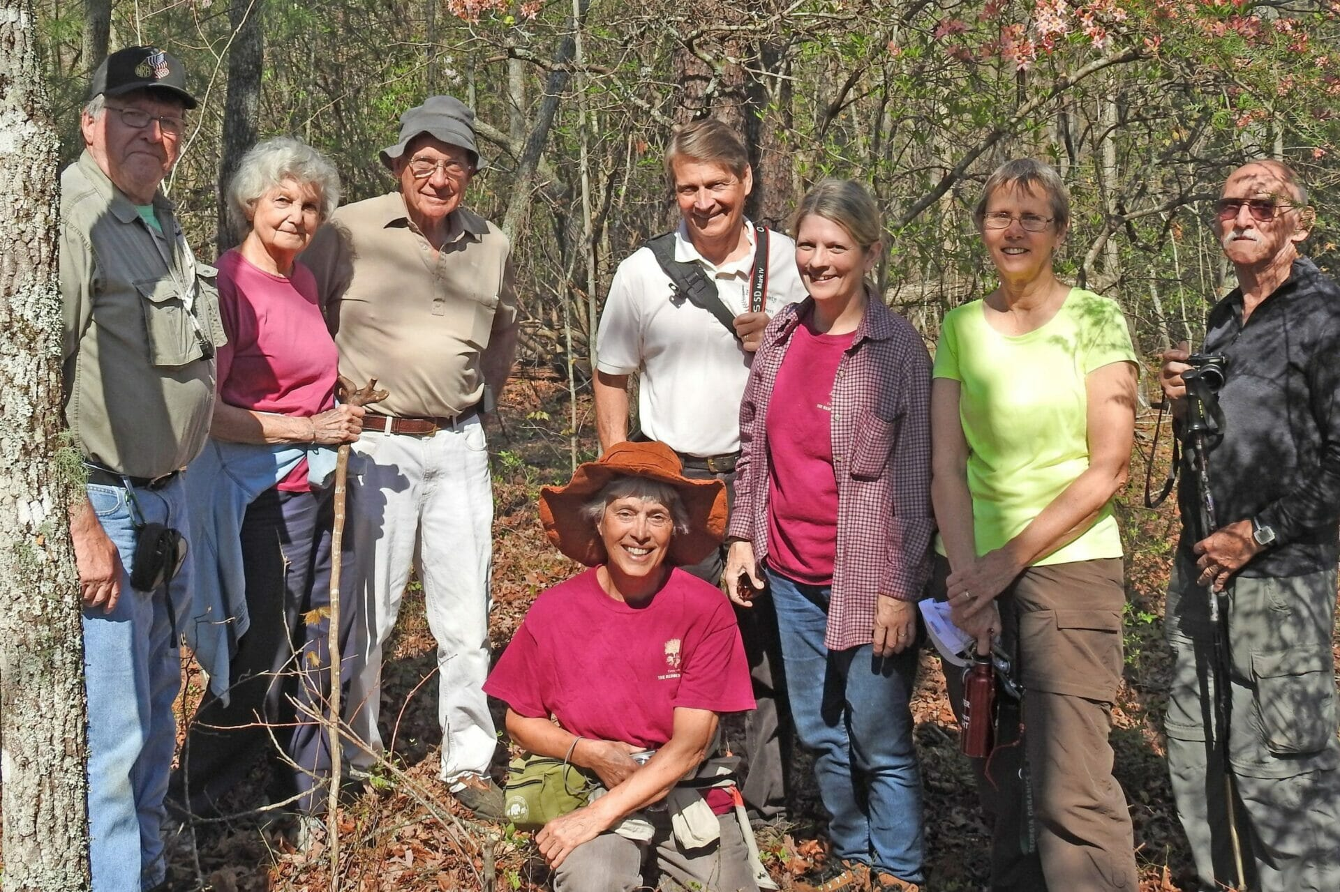 Charles Andrews on left with Attendies at Hurricane Creek Lumpkin Co Ga